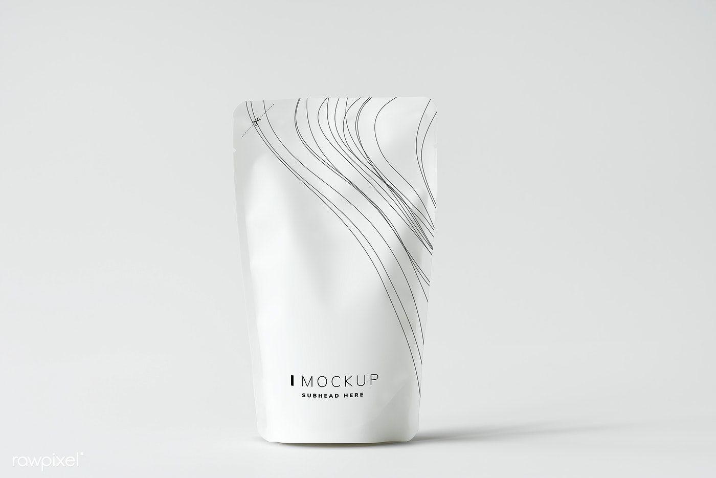 Download Download Premium Psd Of White Sachet Mockup Against White Background 502904 Bag Mockup Mockup Candle Mockup