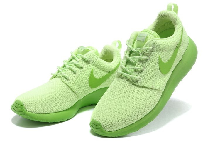 best website 8d9d0 08cb7 Nike Roshe Run Femme Chaussure fluo vert prix spécial