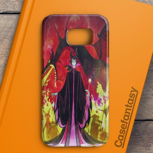Maleficent Sleeping Beauty Glass Design Samsung Galaxy S7 Edge Case | casefantasy