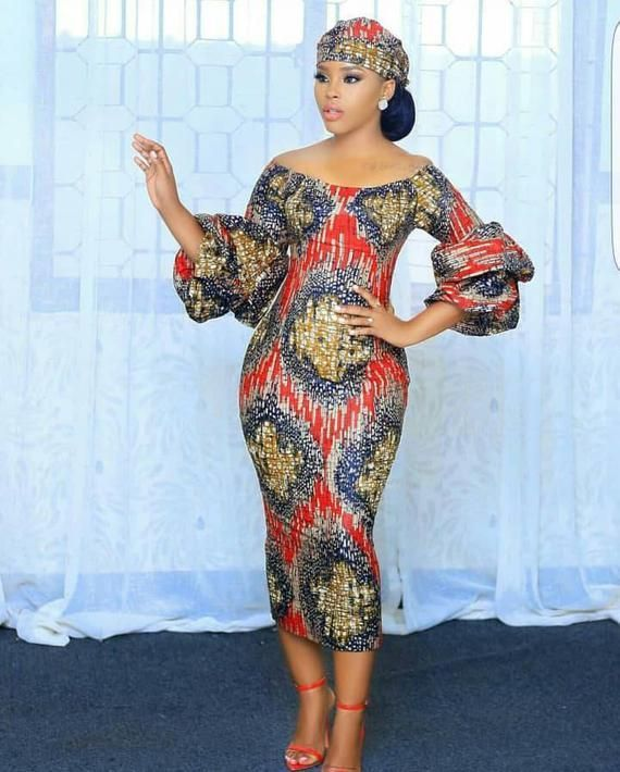 African fitted dress,African midi dress for women,African clothing for women,african three quarter dress,Ankara dress,African short dress