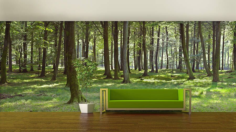 Woodland Forest Self Adhesive Wallpaper Woodland Wallpaper Forest Mural Forest Wall Mural