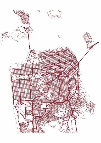 San Francisco Map Print / Street Map Drawing - Custom San ... on san francisco street parking map, san francisco attractions, san francisco haight-ashbury 60s, san francisco 1800s, venice street map print, london street map print, san francisco beaches swimming, key west street map print, san francisco cable car routes, san francisco 1915, san francisco street car map,