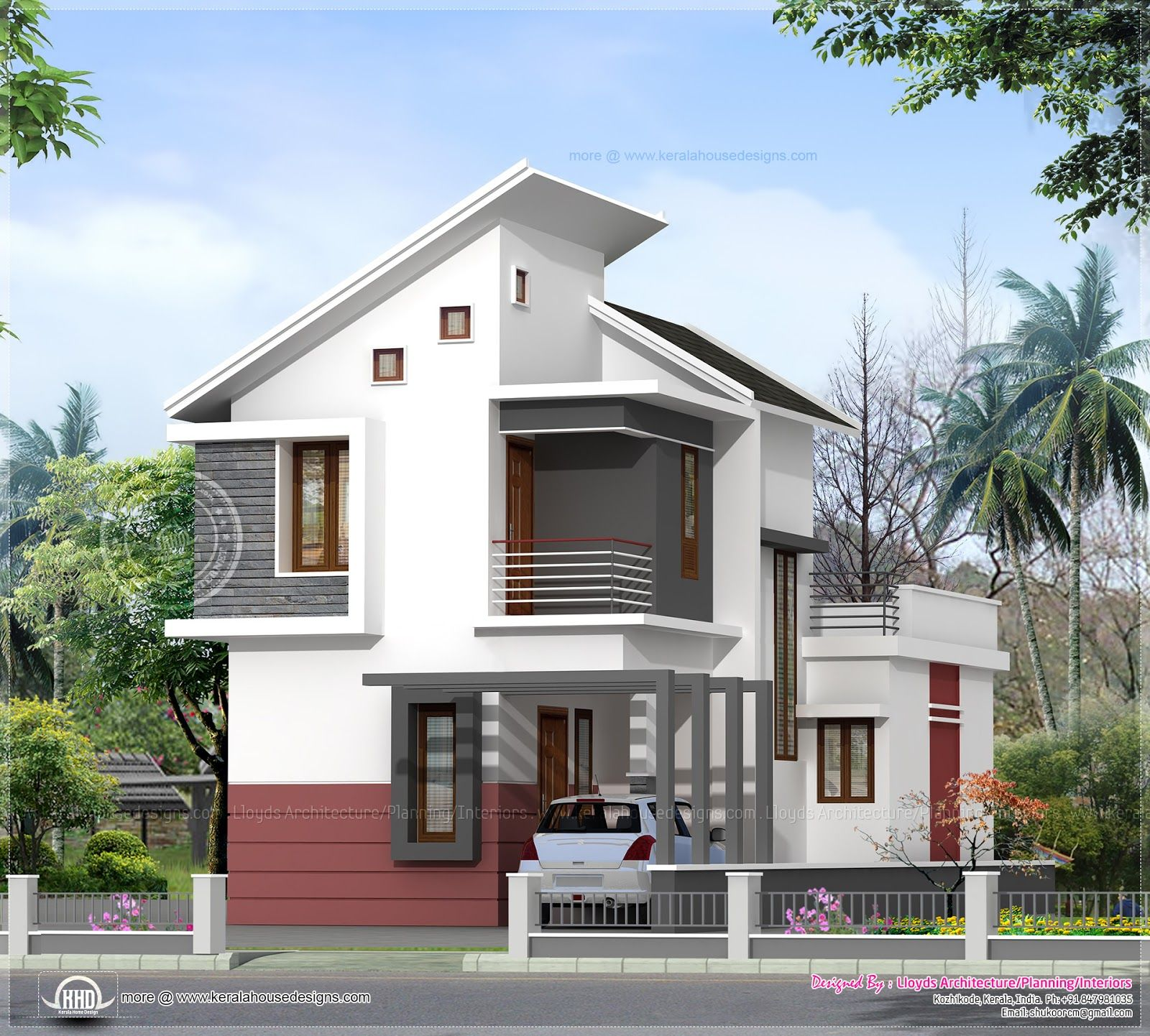 Front Design Of House In Small Budget In India Part - 34: House · Small House Designs ...