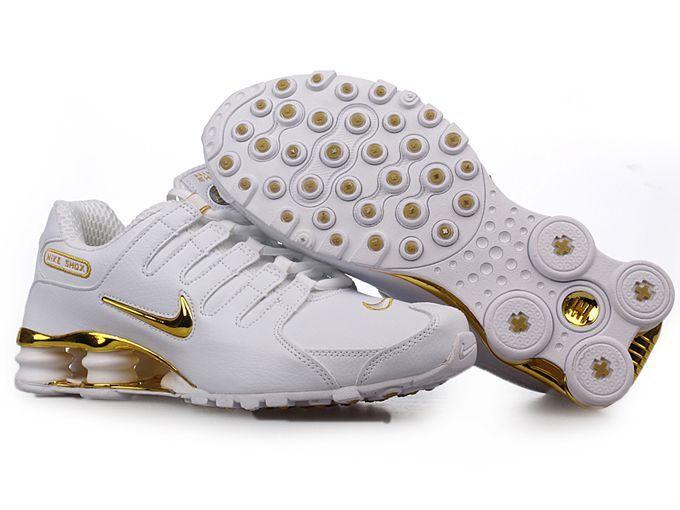 Cheap   Nike Shox NZ Shoes Galvanoplastics Logo Logo Logo Or  Blanc  Sick 2f2978