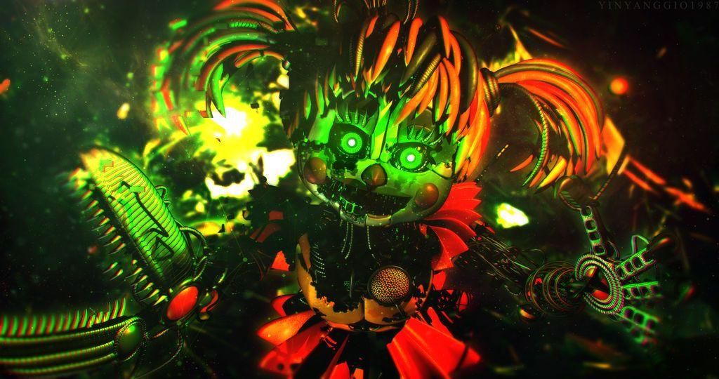 Five Nights At Freddy S Circus Baby Wallpaper C4d Ffps Wallpaper Scrap Baby By Yinyanggio1987 Fnaf Wallpapers Fnaf Drawings Fnaf Baby