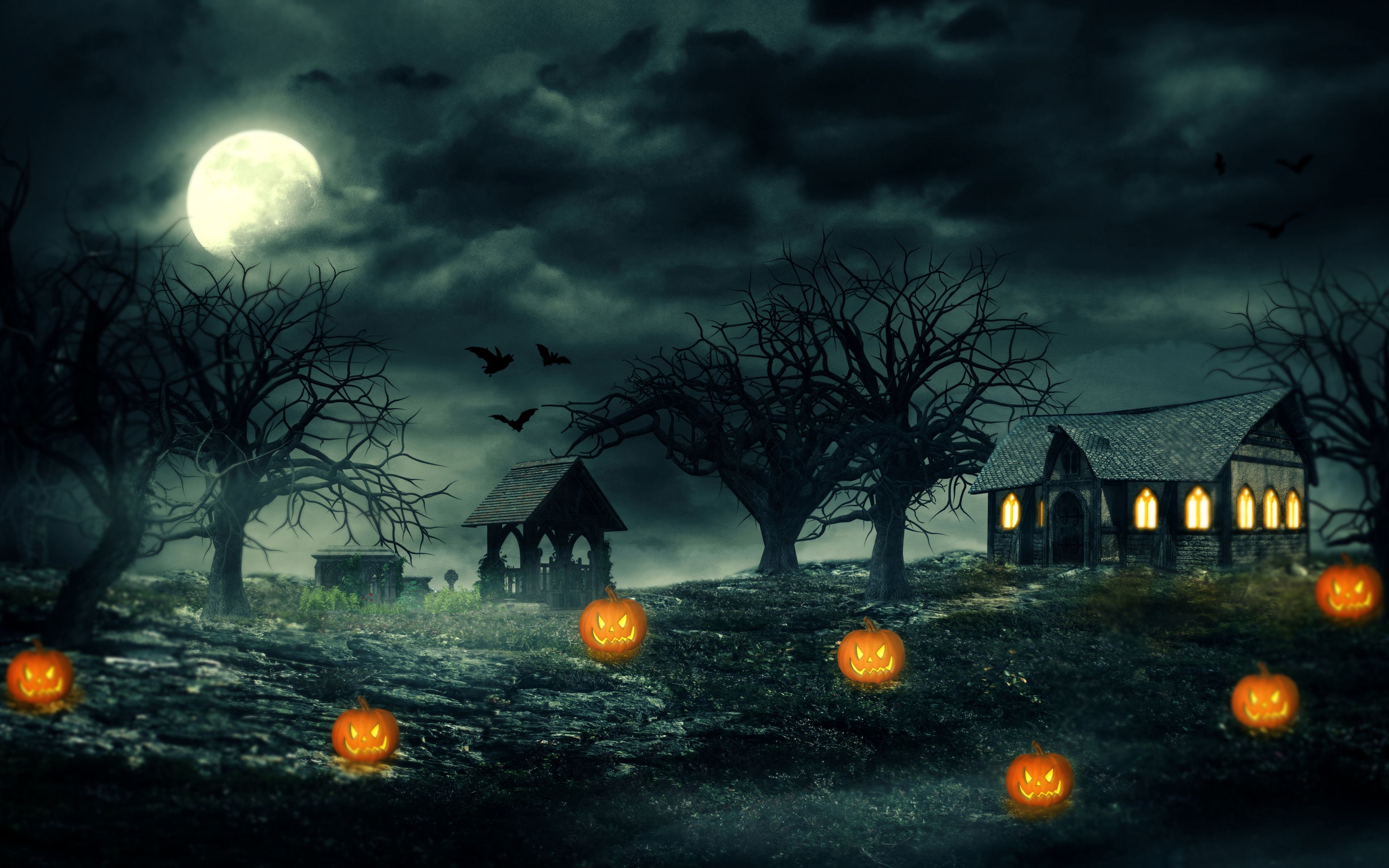 Top 15 halloween scary wallpapers for Windows 8.1/10 | All for ...