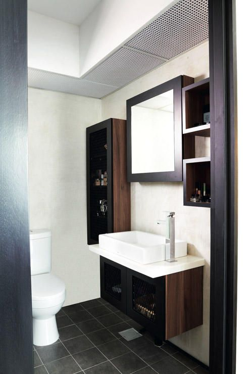Cosy 4 room hdb flat with an industrial touch singapore for Hdb bathroom ideas