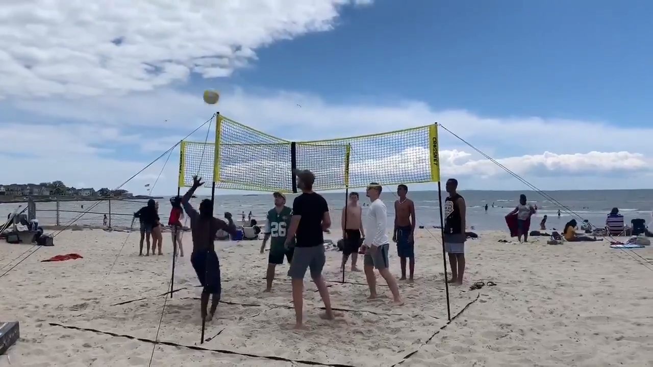Summer Games You Can Play At The Beach Video Summer Games Volleyball Volleyball Skills