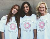 Big Little Reveal T-shirts, Donut T-shirts, Sorority Big Little Reveal, Big Little T-shirts, Big Little Shirts, Custom Big Little Reveal #biglittlereveal
