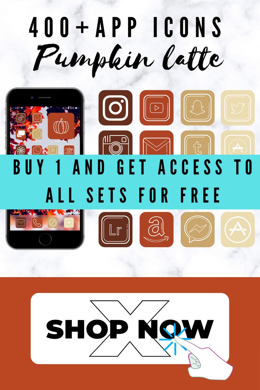 ios 14 app icons fall, App icons fall for iPhone! ios 14 home screen ideas