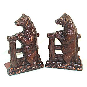 Standing Bear Cub Orna Wood Syroco 1930s Yellowstone Bookends