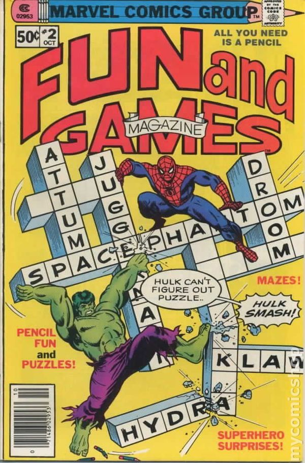 Marvel Fun and Games (1979) 2  Marvel Comics Modern Age Comic book covers Super Heroes  Villians  Spider-man incredible hulk