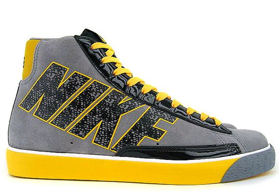 huge selection of 76fbc d38a7 Nike Blazer Mid – Grey – Yellow – Black – Swooshless