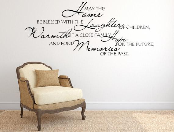 blessed home inspirational wall decal | _products | pinterest | wall