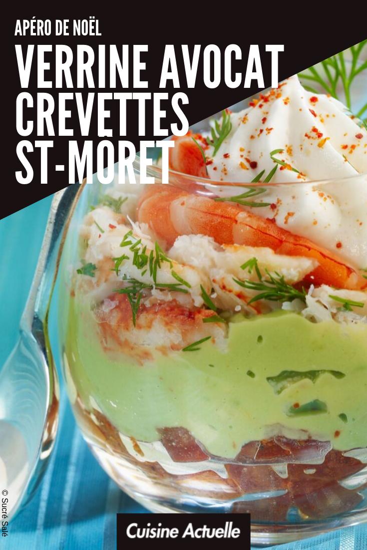 Verrine avocat crevettes St Moret - Recettes #verrinessalees