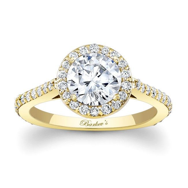 Yellow Gold Engagement Ring 7933LYW Stunning in vogue this
