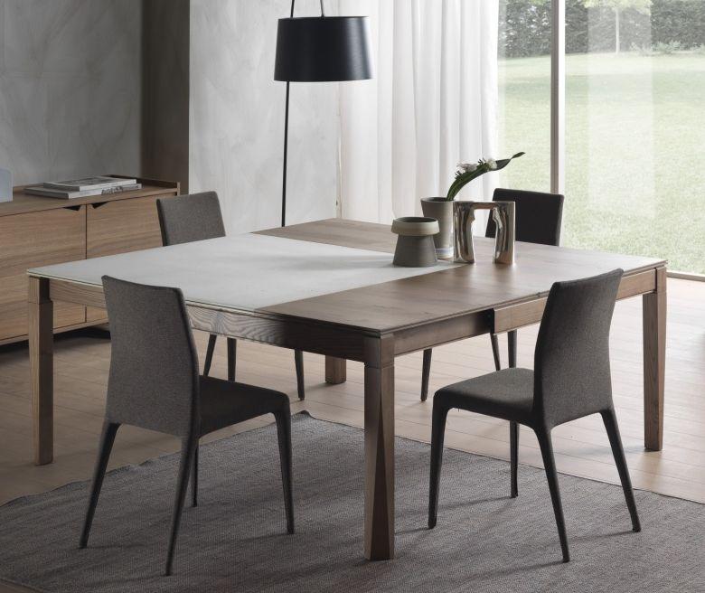 tavolo allungabile e allargabile con piano in legno e cemento plurimo arredamento pinterest