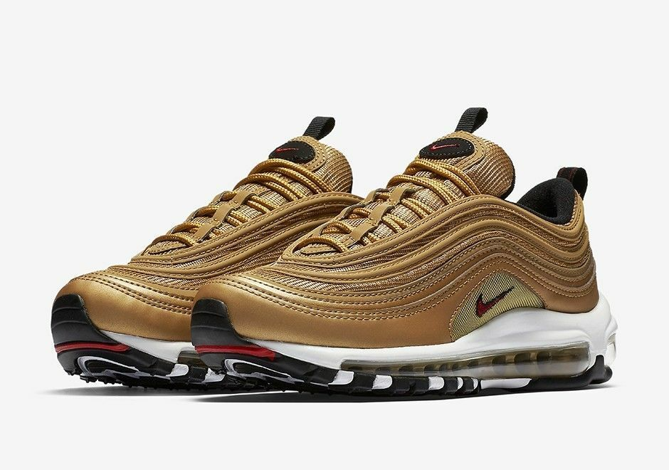 95cfbc2152613 Nike WOMEN Air Max 97 OG QS Metallic Gold/Varsity Red [885691-700 ...