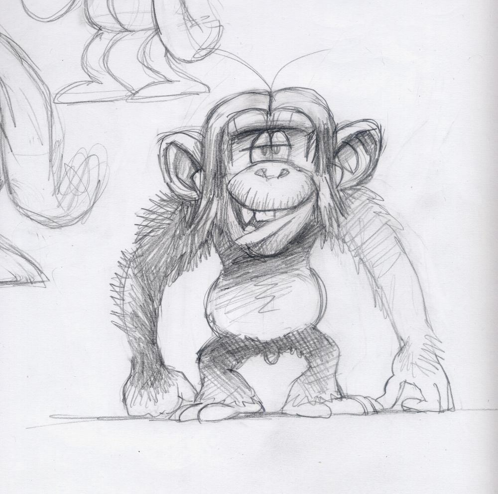 100 Learn How To Draw Chimpanzee Face Other Animals Step By Step