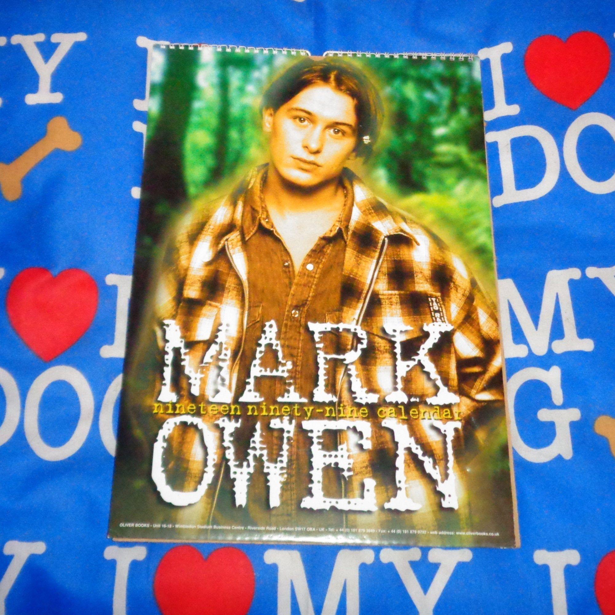 Very Rare Mark Owen Oliver Books Calendar DATES MATCH 2021 Can