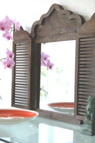 Landhaus Spiegel, Wandspiegel im Shabby Chic, Holz, Antik Look,mit