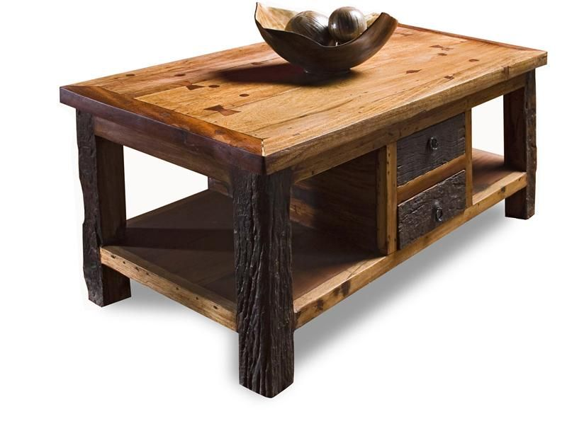 Reclaimed Wood Lodge Cabin Rustic Coffee Table Country Coffee Table Rustic Coffee Tables And