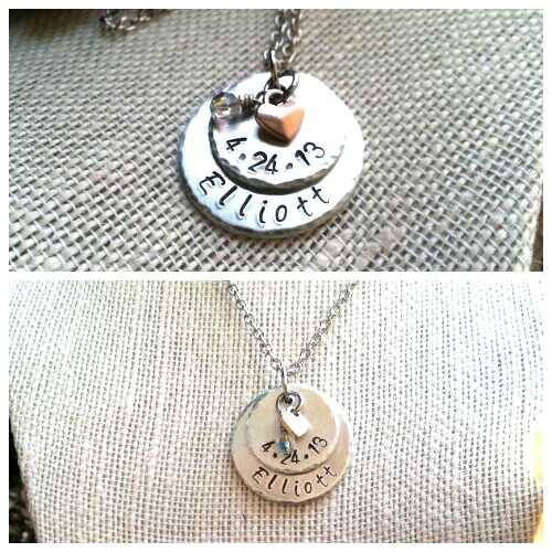Custom mommy pendant 2 layer 34 disc on top of 1 small copper custom mommy pendant 2 layer 34 disc on top of 1 aloadofball Gallery