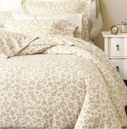 Subtle Leopard AND The Chic Headboard. Never Too Old For Leopard Print  Bedding, I Say.