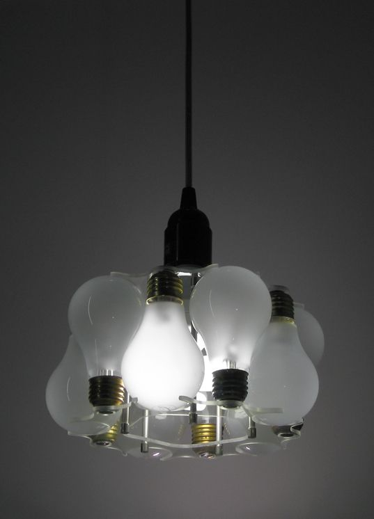 Pendant Lamp Made From Recycled Light Bulbs