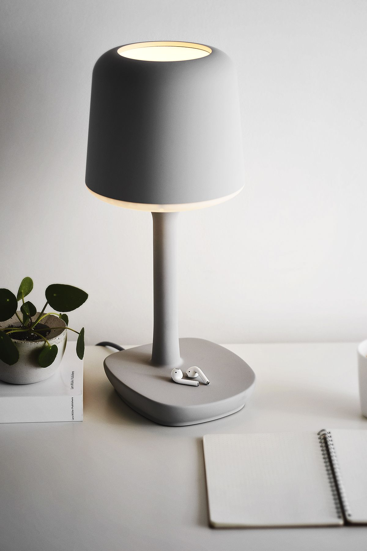 Container Table Light by Alex Chow. A sleek hallway light