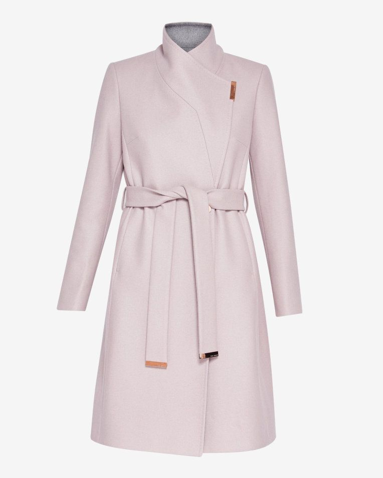 f0cd621ce Wool-cashmere wrap coat - Dusky Pink | Jackets And Coats | Ted Baker ...