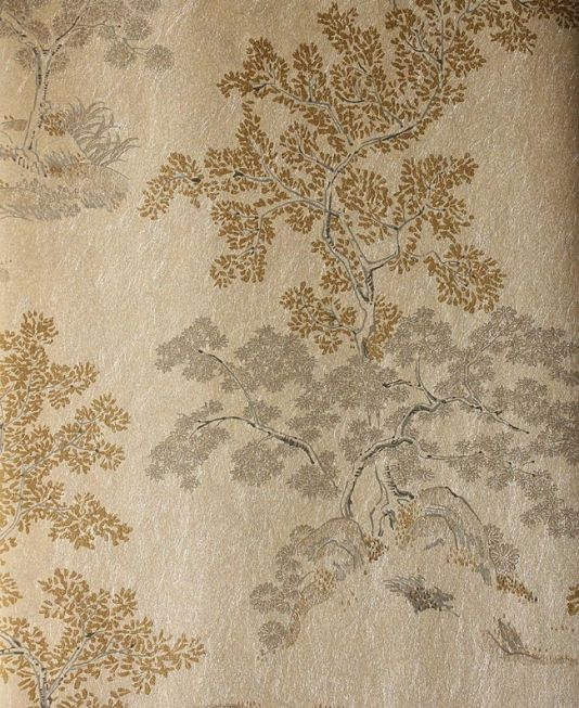 oriental tree wallpaper silver mica wallpaper with black