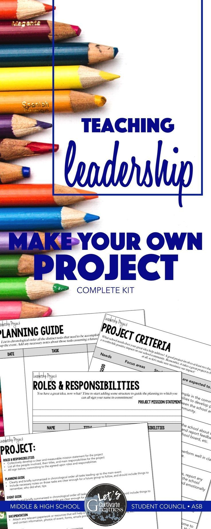 Leadership Student Council Service Project Assembly Planning Guide and  Rubric | ASB Leadership Ideas | Pinterest | Community service projects, ...