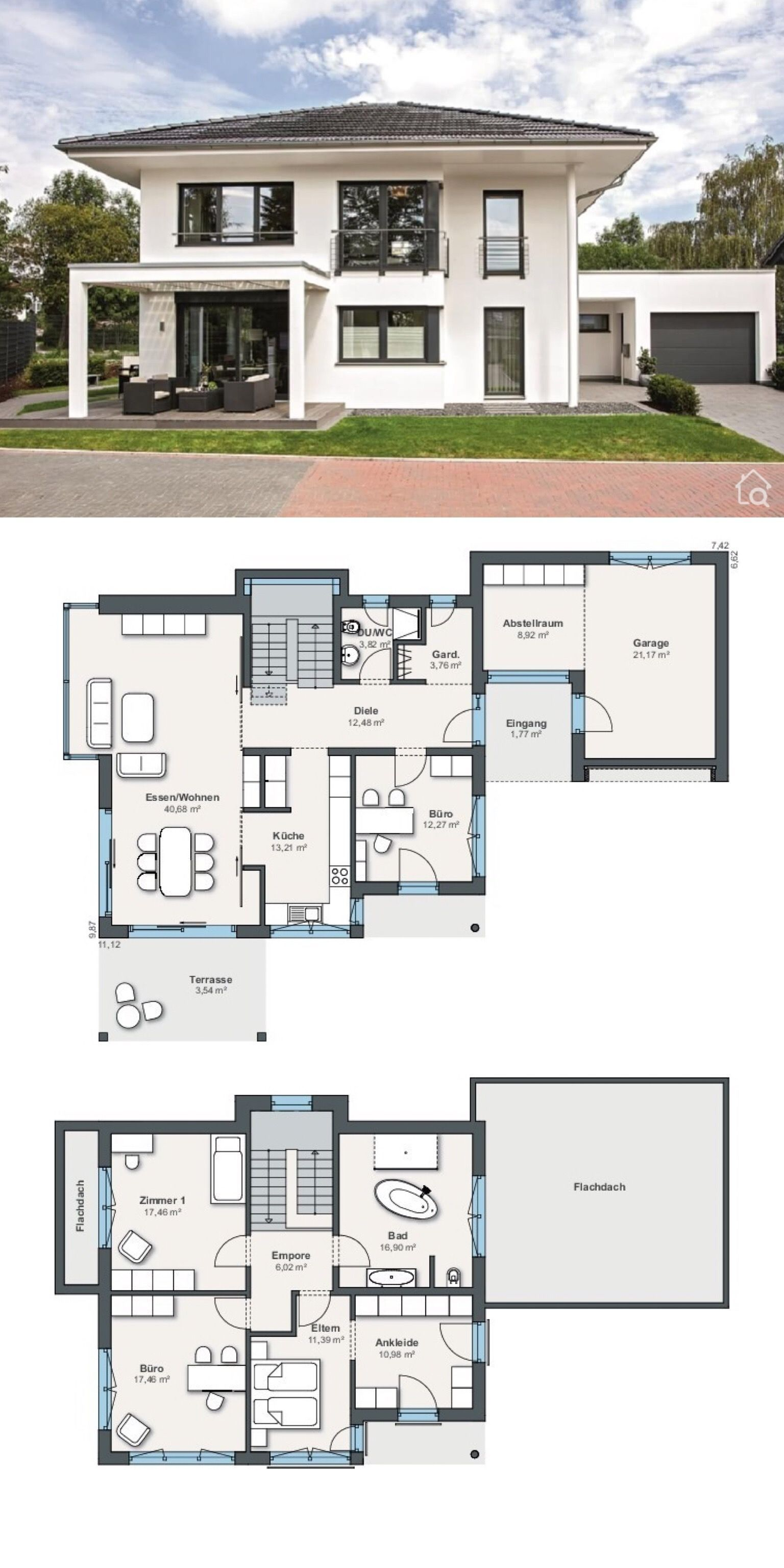 Moderne Stadtvilla mit Garage & Walmdach Architektur, 5