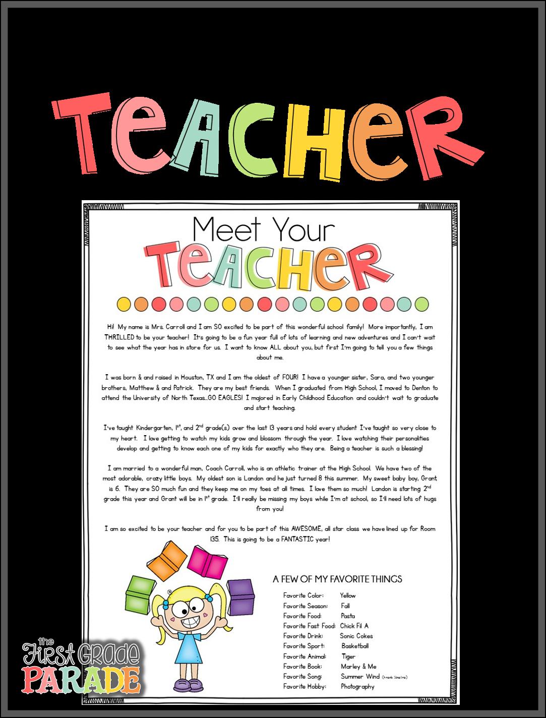 Meet The Teacher Tips Amp Ideas