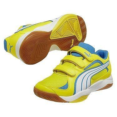 Puma Hallenschuhe Ballesta V Gr. 31 Turnschuhe Klett Schuhe Kinder