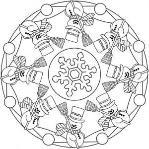winter mandala coloring pages 5