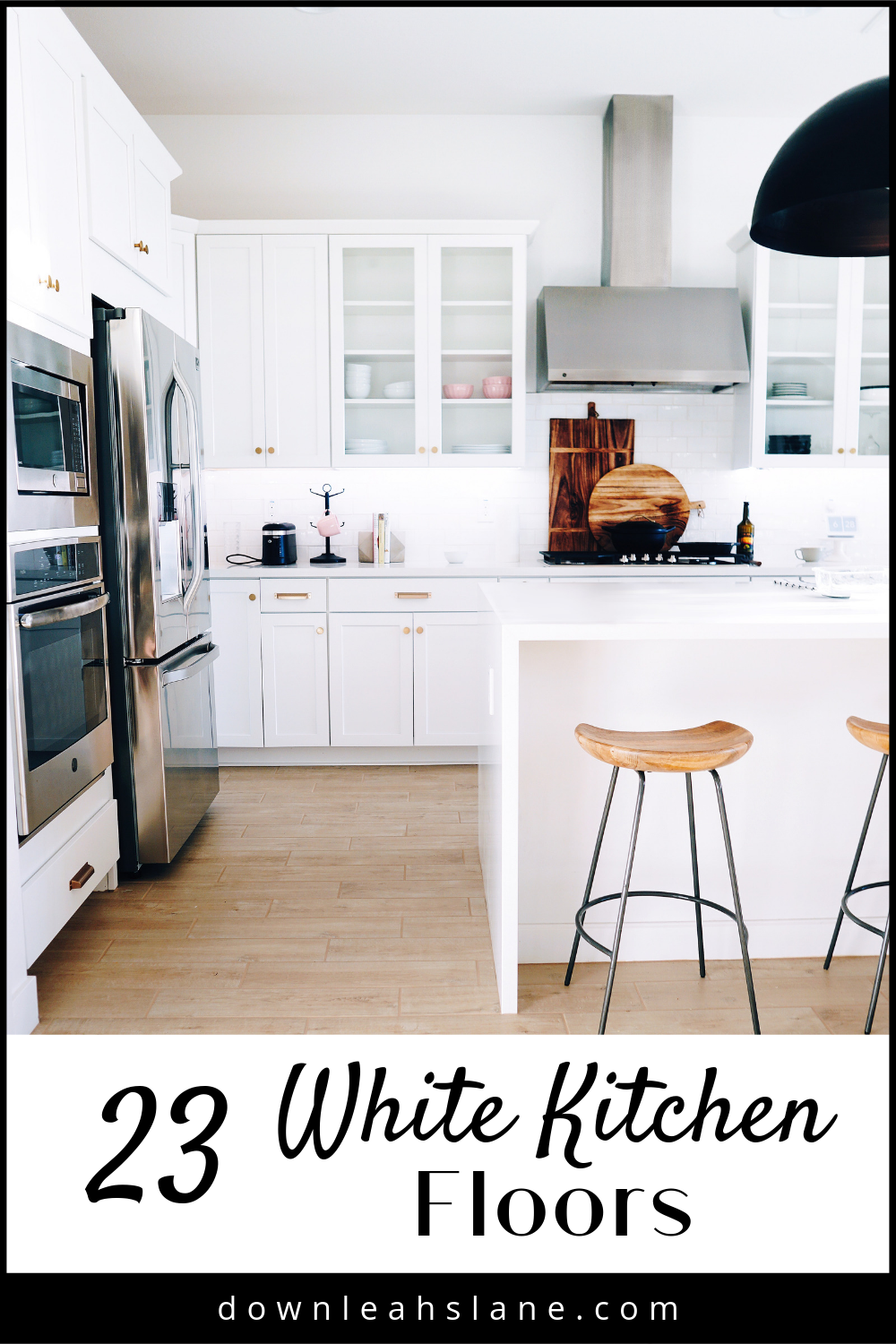 9 White Kitchens Without Wood Floors   Down Leah's Lane   Kitchen ...