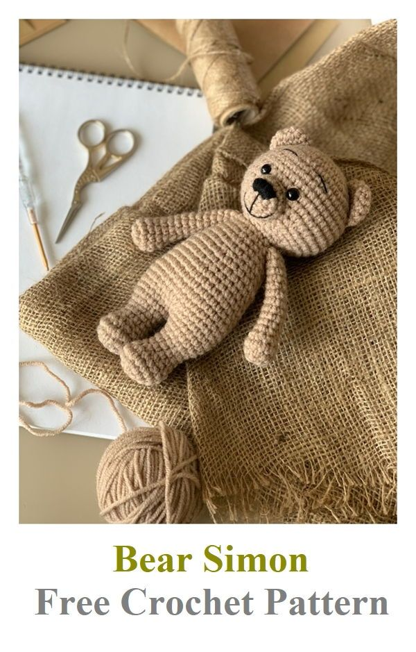 Bear Simon Free Crochet Pattern