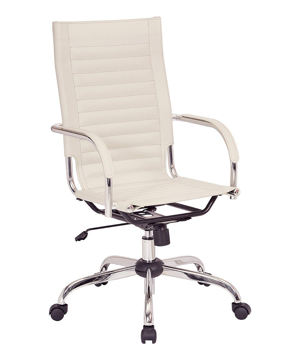 Take A Look At This Cream Trinidad High Back Office Chair Today