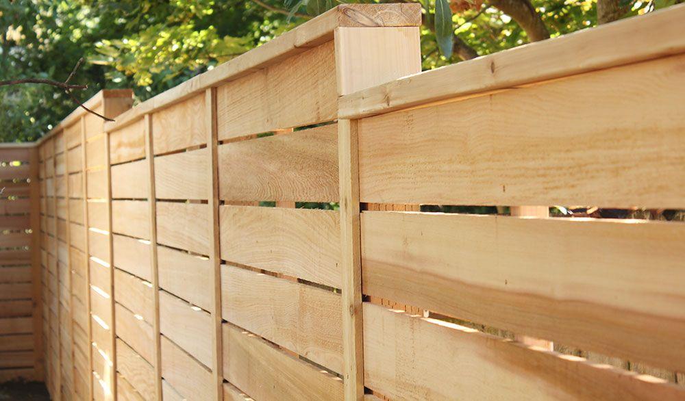 Decorative Cedar Fence Pacific Northwest   New Place - Backyard ...
