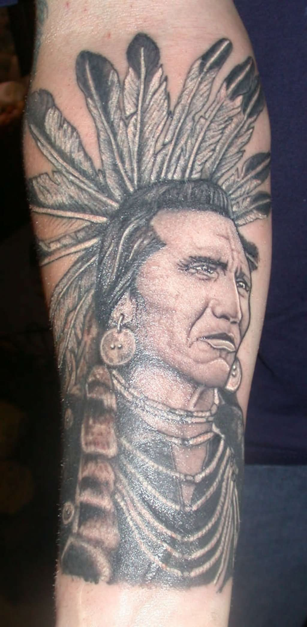 Native Indian Tattoo On Forearm American Indian Tattoos Indian Tattoo Native American Tattoos