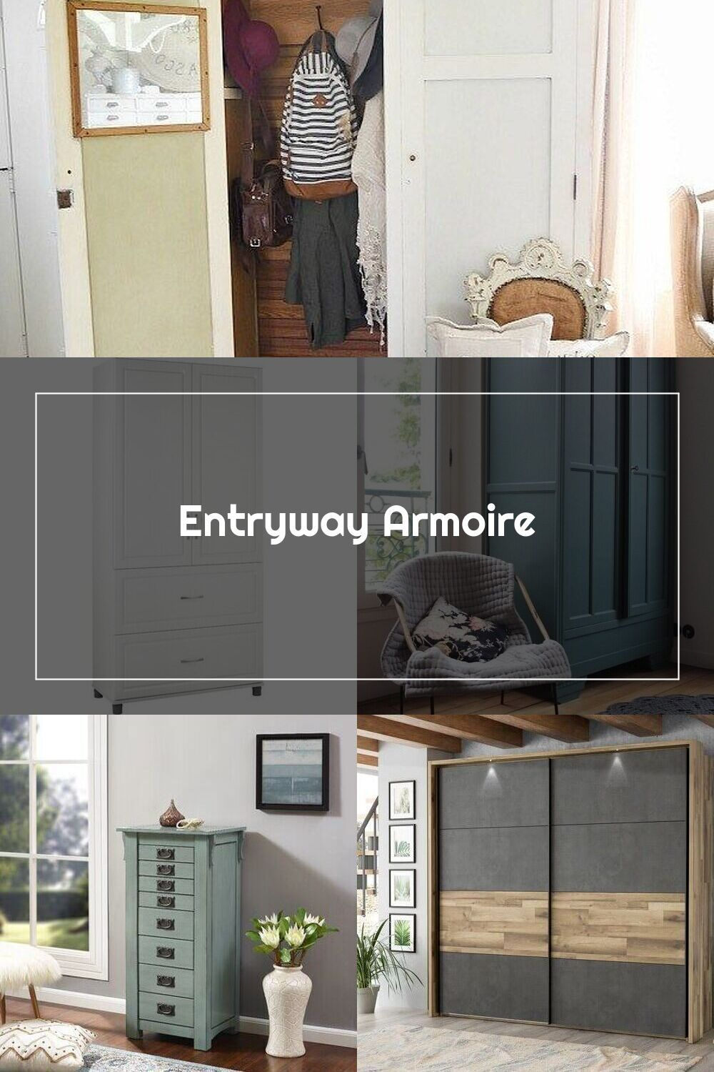 Entryway armoire - a great way to add storage to an ...