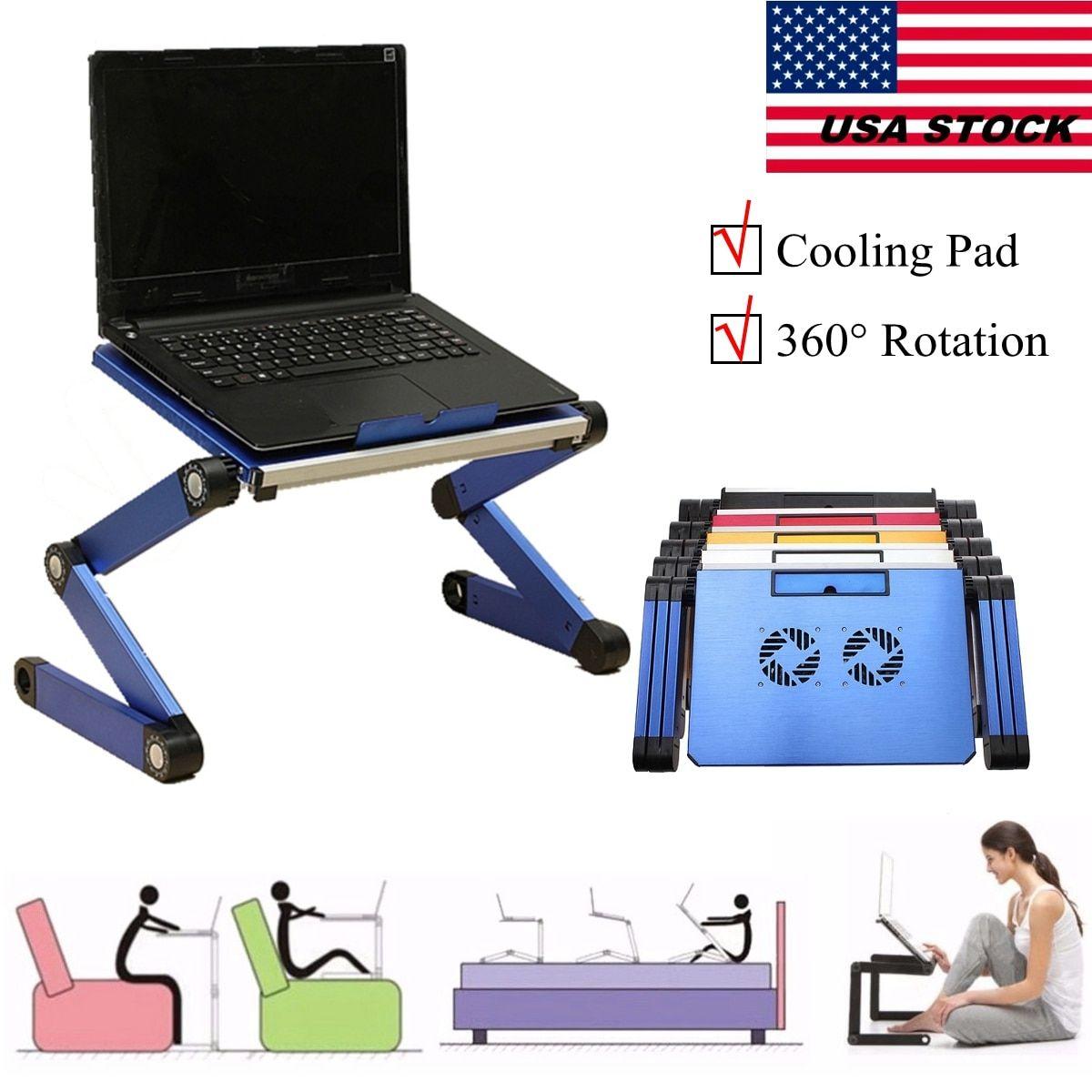 c5debdf70a38 3 Styles Laptop Notebook PC Table Desk Sofa Bed Folding Adjustable ...