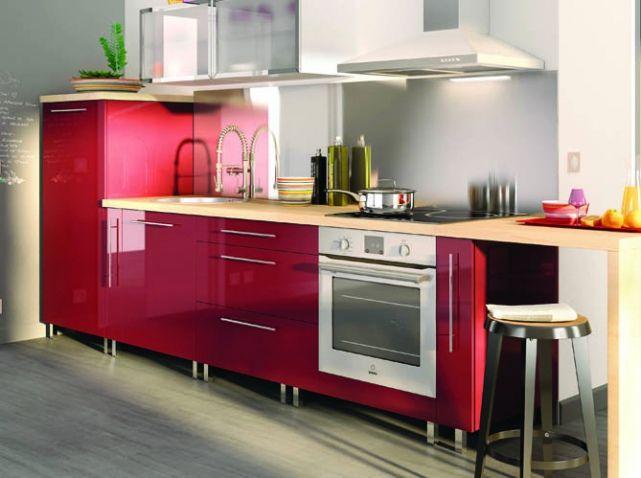 Cuisine Colorée Rouge Brico Depot | cuisine | Pinterest | Kitchens