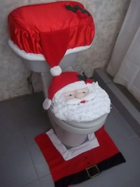 Juego De Bano Navidad Adornos Hechos A Mano