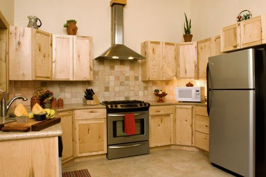 tall chimney hood rustic kitchen design - Home Chimney Design
