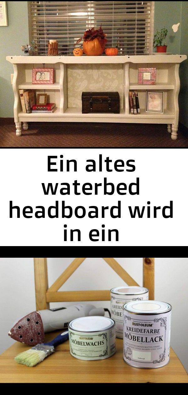 Ein altes waterbed headboard wird in ein bücherregal eingeschaltet  dies ist so eine nette idee 31 EIN ALTES WATERBED HEADBOARD WIRD IN EIN BÜCHERREGAL EINGESCH...