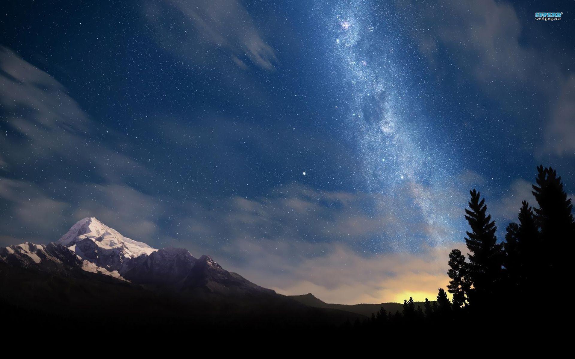 Starry Night Sky Wallpaper Night Sky Wallpaper Anime Scenery Wallpaper Starry Night Sky Wallpaper