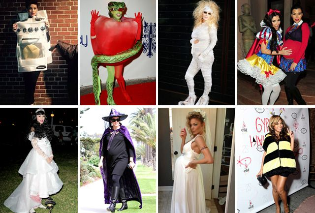 The Best Pregnant Celebrity Halloween Costumes The Baby Post Celebrity Halloween Costumes Pregnant Celebrities Celebrity Costumes